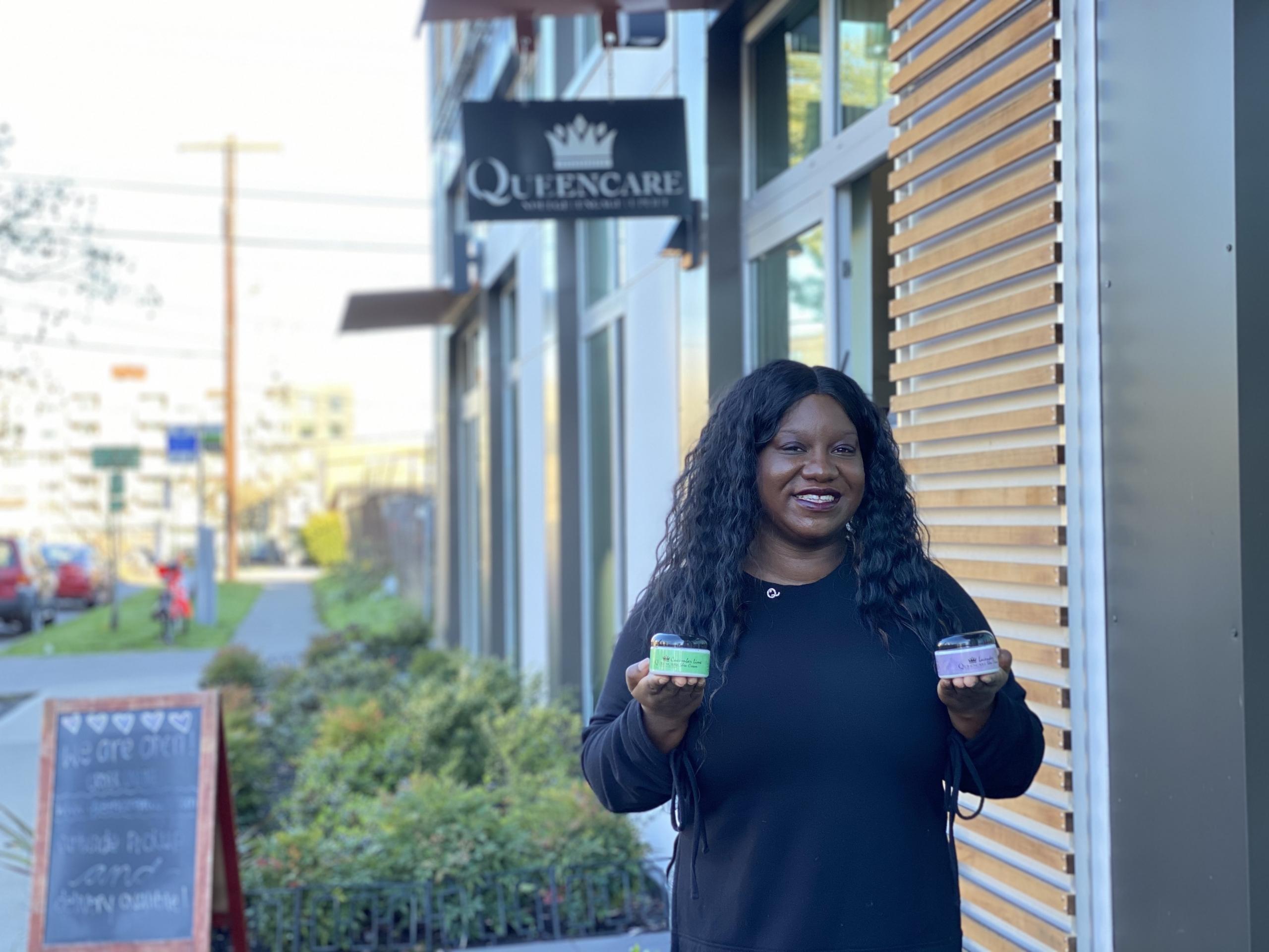 QueenCare founder, Monika Matthews