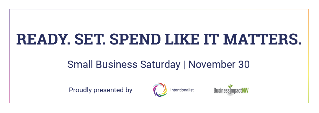 Intentionalist Small Business Saturday 2019
