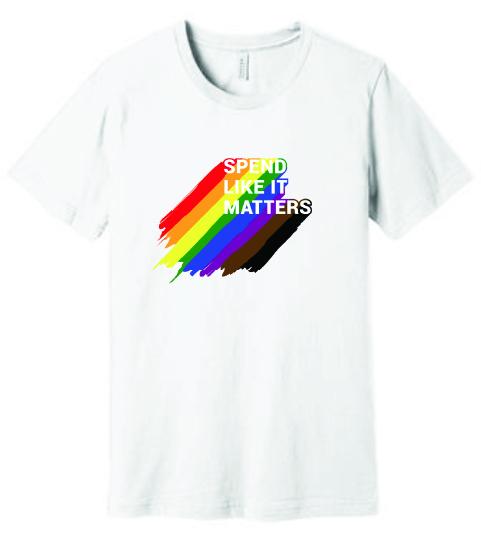Pride tee - rainbow paint
