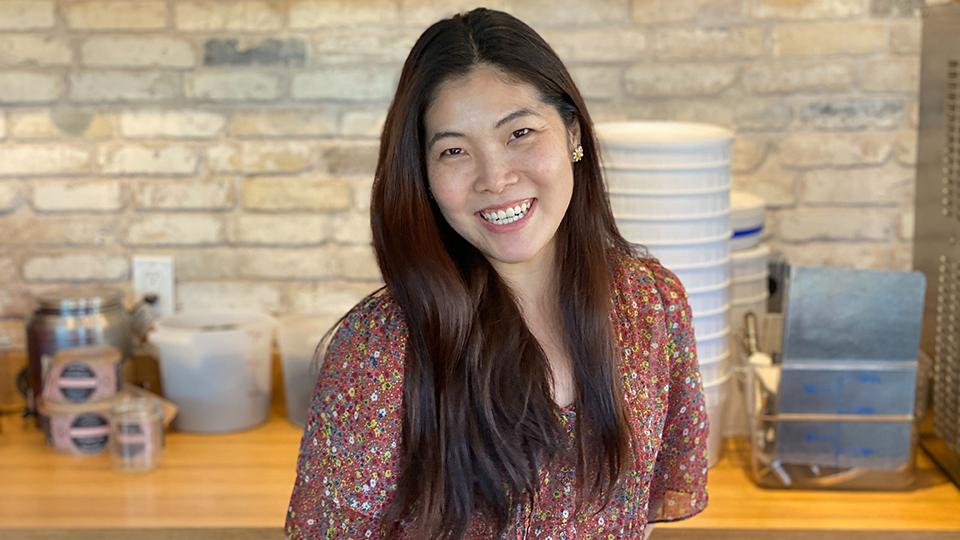 Sweet Alchemy owner Lois Ko inside her business.