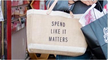 Intentional shopping bag