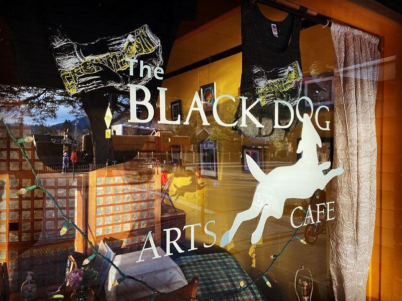Black Dog Arts Cafe window